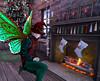 Finishing Touches (Niki Wirefly) Tags: fae fairy fairey faerie male fantasy colour secondlife wings holidays niki sl home