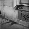 Guerrilla Lisa (argentography) Tags: vienna austria europe yashica 124 ilford hp5 streetart stencil monalisa graffiti