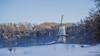 Het Fortuin (Peter Jaspers) Tags: frompeterj© 2017 olympus zuiko 1240mm28 omd em10 openluchtmuseum hetfortuin arnhem gelderland winter mill snow field wood trees mist