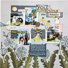 You are the Sunshine of our Lives (girl231t) Tags: scrapbook 12x12layout paper 2017 layout rsg rsg2 sketch4 sketchbased