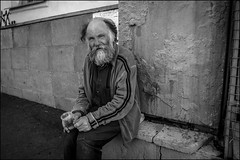 dr150702_042d (dmitryzhkov) Tags: russia moscow documentary street life human reportage social public urban city photojournalism streetphotography people bald beard mustache face streetportrait hairless eyecontact contact visual old oldster rogue beggar seat sit dmitryryzhkov portrait everyday candid stranger
