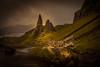 The Old Man of Storr - explored (mandyhedley) Tags: theoldmanofstore landscape rough scotland britishisles rockclimbing mountainclimbing clouds storm explore highland hill hebrides skye ngc