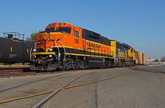 BNSF 150- La Mirada Local (Khang Lu) Tags: bnsf la mirada local switch industry burlington northern santa fe fullerton ca california gp60m gp60m3 locomotive train railroad emd gp60 atsf warbonnet h4