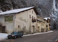 roadside (regular carspotting) Tags: bmw e30 320i cirrusblau metlallic sedan fourdoor viertürer german snowy schnee snow