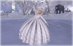 Ice Princess - Cutie (Alea Lamont) Tags: ndmd cutie mesh toddler avatar kids r us children girl winter gown ice princess trunk show magika hair