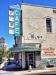 Mayflower Cafe- Jackson MS (2) (kevystew) Tags: mississippi hindscounty jackson us49 us51 us80 sign mayflower cafe