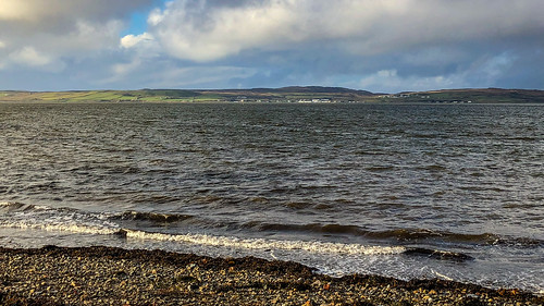 View of Bruichladdich across Loch Indaal from Bowmore