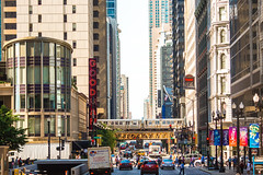 This is Called Goodman (Thomas Hawk) Tags: america chitown chicago goodmantheater illinois usa unitedstates unitedstatesofamerica architecture bridge neon us fav10 fav25 fav50