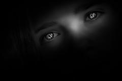 Being hypnotized by magic eyes (lichtspur) Tags: reflections exposition blackwhite invitation superb eyes eye lichtstrahl tones weiblich gemälde woman galerie hypnotized hypnotisiert girl mädchen black monochrome mono background licht lightsource lowlight availablelight light rays lichtstrahlen schwarzweiss art kunst stilvoll augen glanz glance shine look view differentview idea angle portrait details opinion eyebrows augenbrauen
