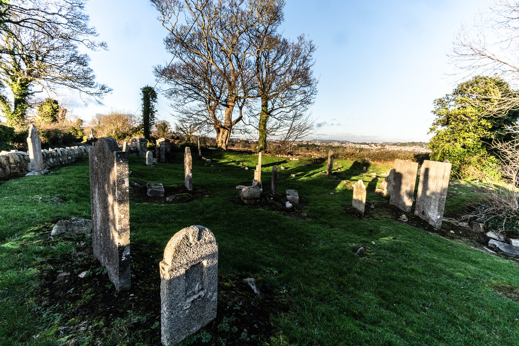 ANCIENT CHURCH AND GRAVEYARD AT TULLY [LAUGHANSTOWN LANE NEAR THE LUAS TRAM STOP]-134606