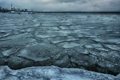 Toronto on Ice (lfeng1014) Tags: torontoonice torontoskyline lakeontario ice frozenlake extremecoldweather humberbay lakeside winter canon5dmarkiii 2470mmf28lii landscape