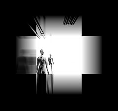 The Mannequins from Obscurity (Stachmo) Tags: mannequins obscurity abstract surreal obscure reshade video game gaming screenshot digital art monochrome minimalism unique creations