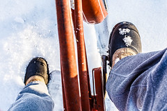Riding out the  Winter (dshoning) Tags: 52weeksof2018 feet boots bike snow riding winter