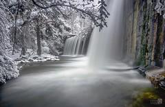 Cascada en Seda (JoseQ.) Tags: cascada sedas lozoya rio rascafria madrid nieve frio arboles embalse bosque invierno agua