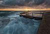 Corner Flow (Crouchy69) Tags: sunrise dawn landscape seascape ocean sea water waves flow motion clouds sky rocks path avalon beach pool sydney australia