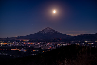 Super Moon and Fuji