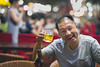 A nice and happy chinese man drinking a beer (leonardrodriguez) Tags: dunhuang 敦煌市 中國 portrait people bokeh drink drinkingbeer drinking beer cerveza bière birra face ritratto satisfaction content cinese chinois 平遙 china cina chine