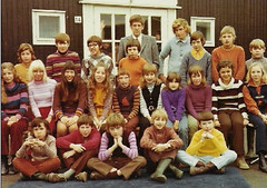 The first appearance of green wellies in a school photo? (theirhistory) Tags: boys children kids school class colour jumper shirt shoes wellies trousers rubberboots form pupils students education