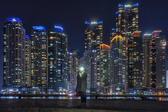 Light up the world (mikemikecat) Tags: 海雲台 해운대 haeundae busan 釜山 nightscape nightview night building urban urbanscape sony a7r fe2470mm mikemikecat 부산광역시