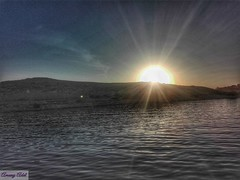 16 (amanyadel9212) Tags: sunset blue sky water aswan nasser lake landscape nature mountain mobile photography light new nile sand desert sun clouds travel stoeries