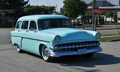 "1954 Ford Country Sedan station wagon ""Custom"" (Custom_Cab) Tags: 1954 ford country sedan station wagon 4door 4 door blue car custom kustom"