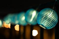 Saturnales. (Canad Adry) Tags: fête party chrismas light lumiere bleu bokeh sony a6000 rokkor guirlande noël garland