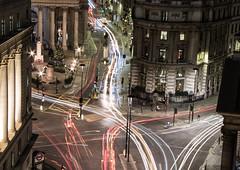 Light trails (Joseph Pearson Images) Tags: night longexposure lighttrail london cornhill bank cityscape junction statue