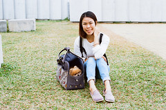 Tomato and Maisy in Tamar Park, Hong Kong (Wondergraphy) Tags: nikon nikonf analog film camera oldschool lomography ck malaysiaphotographer malaysian 菲林 相機 攝影 寫真 生活 lifestyle tamar park hongkong