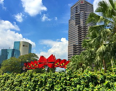 Merry Christmas! (peggyhr) Tags: peggyhr bow red trees buildings urban img6005a kualalumpur malaysia clouds sky blue green white
