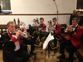 Ian leads the 5 piece band at Wittersham Church for carols with Kildown Choir - 2017