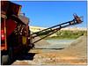 Conveyor Belt (Finepixtrix) Tags: machine mining gold krugersdorp mogalecity grahamehall fujifilm fuji finepix s5600 bridgecameras westrand sky blue red gravel conveyorbelt industrial minedump