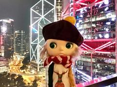 Night view at central Hong Kong