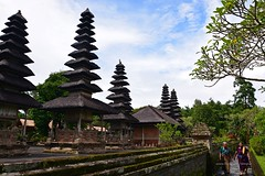 Taman Ayun Temple (Rudy Sempur) Tags: indonesia bali island southeastasia hindu temple india woman tourist sari saree shari pray religion travel heritage