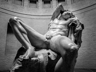 This marble statue of a sleeping satyr, called the Barberini Faun, is my favourite statue in the Bavarian city of Munich.