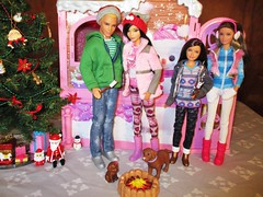 🎆HAPPY NEW YEAR! 🎉 (flores272) Tags: winter barbie barbiedoll toydog skipperdoll kendoll leadoll barbiewinterfamilybuildup christmas fashionistas doll dolls toy toys