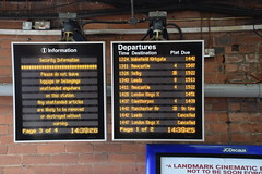 DSC_7391 Doncaster Railway Station Many Late and Cancelled Trains. Scottish trains were late because of the weather. This problem was compounded by a person being hit by a train (photographer695) Tags: doncaster railway station many late cancelled trains scottish were because weather this problem was compounded by person being hit train