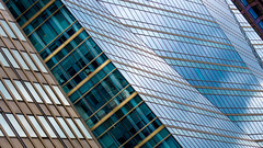 Layered London - Explored (DobingDesign) Tags: windows architecture ripples diagonals angles london city modernarchitecture glass reflection colours tones lines stripes patterns geometric window building complexity direction skyscraper sky panels stripe section strip fold mountainfold origamiarchitecture