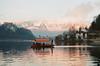 Bled (silkfatblues) Tags: bled olympusom2n 50mm zuiko f14 lake nature boat
