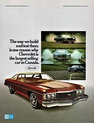 1974 Chevrolet Impala Custom Coupe (Canadian Ad) (aldenjewell) Tags: 1974 chevrolet impala custom coupe canadian ad