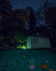 Boat house night (arohila98501) Tags: olympia night october washington stars october2017 sky washingtonstate fall leaves