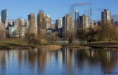 Reflecting On The City (Clayton Perry Photoworks) Tags: vancouver bc canada winter skyline explorebc explorecanada reflections vanierpark