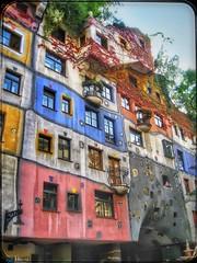 A magical life.... (Sherrianne100) Tags: apartments hundertwasserhaus hundertwasserhouse vienna austria