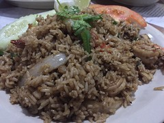 Basil Fried Rice w/Shrimp (austin.restaurants) Tags: iphone6 ios1121 restaurantmuangthai dinner 2018 january 5th 180105 friday january5th public