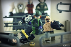 Mutant Leader Unmasks The Bat (WattyBricks) Tags: lego dc comics superheroes mutant leader riddler edward nygma ras al ghul talia bane batman bruce wayne gotham rogues gallery
