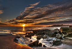Sunset (niloc's pic's) Tags: sunset sky sea beach clouds rocks rockpool reflections water glynegap bexhillonsea eastsussex panasonic lumix dmcgx7