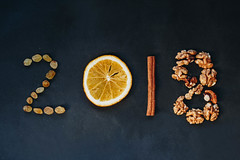 New Year concept. 2018 written with different ingredients (wuestenigel) Tags: wood dry natural winter numbers retro grain background best newyearseve happynewyear up cook seasoning flavor year happy wishes aromatic 2018 aroma wooden closeup cooking culinary greeting vintage orange christmas goals new holiday written food spices newyear ingredient cinnamon cuisine close silvester eating seed ziele yummy rustic kitchen