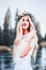 (KieraJo) Tags: 100mm 28 canonef100mmf28macrousm bokeh lens canon 5d mark 3 iii 5d3 fullframe dslr utah logan cache valley photographer photographers beautiful portrait photography bride bridal wedding bouquet floral crown flower flowers blonde