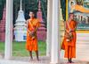 Monks (j_chim09) Tags: travel dawn sunrise monks feed food breakfast wait people cambodia pillars monastery temple happy buddhist buddha ancient
