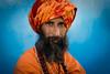 Sadhu (wu di 3) Tags: turban man monk hindu religion india orange sadhu