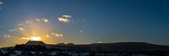 Sunset behind La Corona - Lanzarote, Canary Islands (dejott1708) Tags: sunset la corona lanzarote canary islands landscape panorama beach lava rocks volcano sky